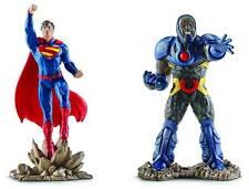 """DC Comics Schleich Justice League Superman Vs Darkseid 4.5"""" PVC 2 pack Figurines"""