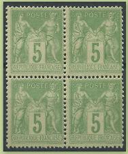 TYPE SAGE FRANCE  N°106 en BLOC de 4 Neuf**/*, 1°CHOIX/TB,  COTE:200€
