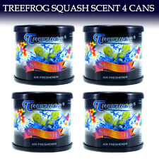 4 CAN TREEFROG CAR AIR FRESHENER SQUASH - TREE FROG SQUASH SCENT QTY. 4 CANS