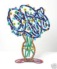 David Gerstein Art Blue Bouquet Metal Modern Sculpture