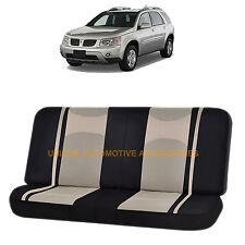 BEIGE & BLACK POLY MESH NET 2PC SPLIT BENCH SEAT COVER for PONTIAC TORRENT SPORT