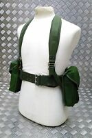 Genuine 80`s Army Issue 5PC Webbing Set Yoke Belt And Pouches Heavy Cordura