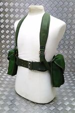 Genuine 1980`s Army Issue 5PC Webbing Set / Yoke Belt And Pouches Heavy Duty
