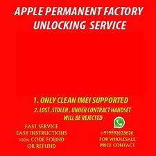iPhone 4S 5 5C 5S 6 6s 6+ 6s+ Factory Unlock Unlocking Clean IMEI AT&T ATT ONLY