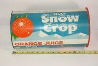 Snow Crop Orange Juice Coca Cola Large Vintage Container Grocery Store Display