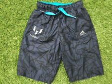 BOYS Blue ADIDAS MESSI SHORTS (age5-6) *GREAT COND*