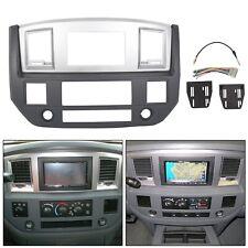 Radio Double Din Dash Install Bezel Kit Silver Slate Grey For 2006-09 Dodge Ram