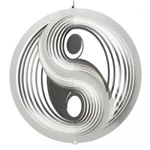 CIM Edelstahl Windspiel Yin Yang Ø25cmm Garten-Deko Metall wetterfest Kunstwerk