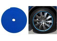 Car Wheel Hub Rim Edge Protector Ring Sticker Tire Guard Line Rubber Strip Blue