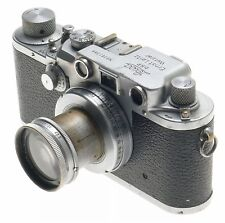 SUMMAR 1:2 f=5cm VINTAGE LENS IIIC LEICA 35mm FILM CAMERA RANGEFINDER TYPE USED