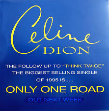 "CELINE DION Display Only One Road UK PROMO ONLY Rare 12"" x 12"" Poster"