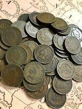 Old 1800's To 1899 Indian Cents Penny Collection - No Telling What's in Here!