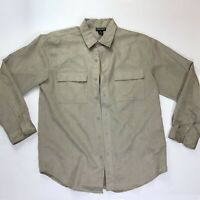 Men's Montage Collection Faux Suede Button Up Long Sleeve Shirt Size M Regular