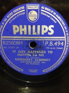 Rosemary Clooney - Hey There & It Just Happened To Happen To Me 78RPM RECORD