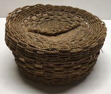 Antique Sweet Grass Keepsake Covered Basket