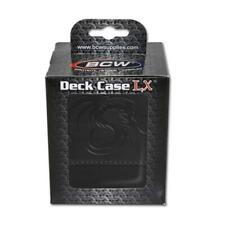 2x Ultra PRO POLY DECK BOXES BLACK Holds 70-80 sleeved cards 81453