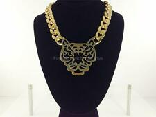 Abstract Tiger CCB Necklace - Gold Tone