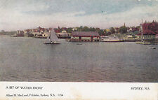 A Bit of Water Front SYDNEY Nova Scotia Canada 1907-15 Albert M MacLeod Postcard