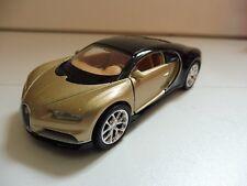 Bugatti Chiron Noir/Or 1/36 Welly Diecast Neuf Boite d'origine 11 cm