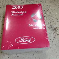 2003 Ford Mustang Gt Cobra Mach Service Shop Repair Workshop Manual BRAND NEW