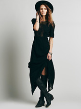 NEW Free People Black Say You Love Me Cotton Lace Button Back Maxi Dress 4 $268