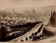 FIRENZE c. 1875 - 2 Photos Panorama e Cattedrale Italie - 17