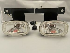 95-98 Ford Explorer Clear Driving Fog Light Lamp Kit W/ Switch Harness