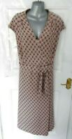 ❤ GOK WAN Size 22 R Dusky Lilac Purple Stretchy Dress Slimming Support Lining