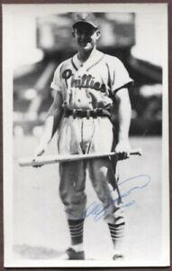 Del Ennis autographed vintage Philadelphia Phillies Brace Postcard