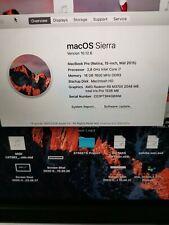 Macbook pro 15 mid 2015 i7 2,8 Ghz 16gb Ram