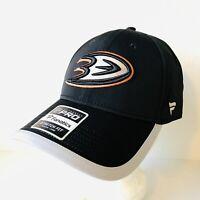 Anaheim Ducks Flex Fit Hat Black M/L NHL Pro Authentic Fitted Cap Fanatics NEW