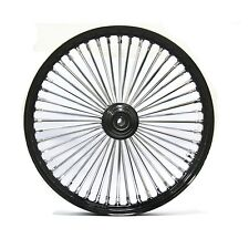 "FAT SPOKE 21"" FRONT  WHEEL BLACK 21 X 3.5 HARLEY FLHR ROAD KING FLTR ROAD GLIDE"