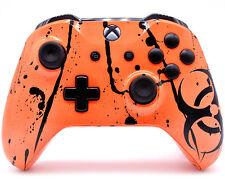 """Toxic Orange"" Xbox One S Custom UN-MODDED Controller Unique Design"