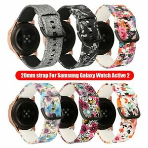 Band Bracelet Strap Flower Printing for Samsung Galaxy Watch Active 2 42mm