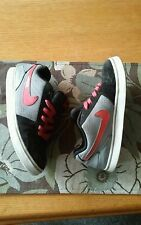 Nike Ruckus Low JR G Gray Pink Black Kid's Shoes Size 6Y- Youth Girls Laces