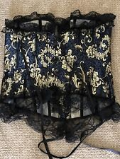 Corset Gold And Blue Black Lace Absolutely Amazing