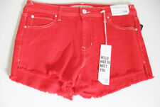 "Celebrity Pink Juniors 3"" Color Wash Frayed Shorts Fire Sz 11/30 - NWT"
