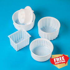 Cheese making molds kit | FETA, CAMAMBERT | Goat Cow Rennet Cheesecloth Press