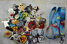 Disney trading 25 pin lot starter set + NEW Ariel Little Mermaid lanyard