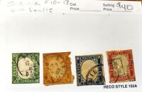 ITALY collection 🇮🇹 4  DIFF. SARDINIA stamps w/good value- some faults- nice!