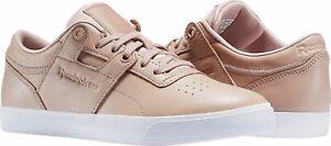 Reebok Workout Clean FVS FBT Womens UK 8 EU 42 Pink Rose Gold Trainers Sneakers