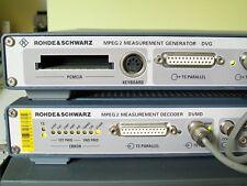 RHODE ROHDE SCHWARZ R&S DVG generator & DVMD decoder MPEG DVB digital video