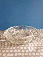 Vintage Lead Crystal 4 Rest Glass Ashtray