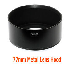"77mm Metal Screw-in Hood for Canon Nikon Sony Pentax Standard Lens ""US seller"""