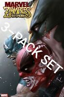 MARVEL ZOMBIES RESURRECTION 1 3-PACK 1ST PRINT VARIANT 10/30 RESPAWN WOLVERINE
