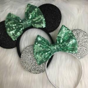 Tiana Minnie Ears, Mint green Mickey Ears, Silver Minnie Ears, Bridal HANDMADE