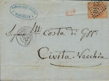 FRANCE : 1871 40c Ceres on entire to Italy-2240 cancel