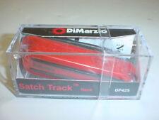 DiMarzio DP425RD Satch pista Cuello, Rojo con postes de Negro