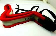Canon EOS Digital Neck Strap Canvas Genuine red white on grey