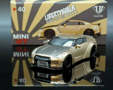 MINI GT LB*WORLK Nissan GT-R #40 Satin Gold w/carbon (LorR Random delivery)1/64